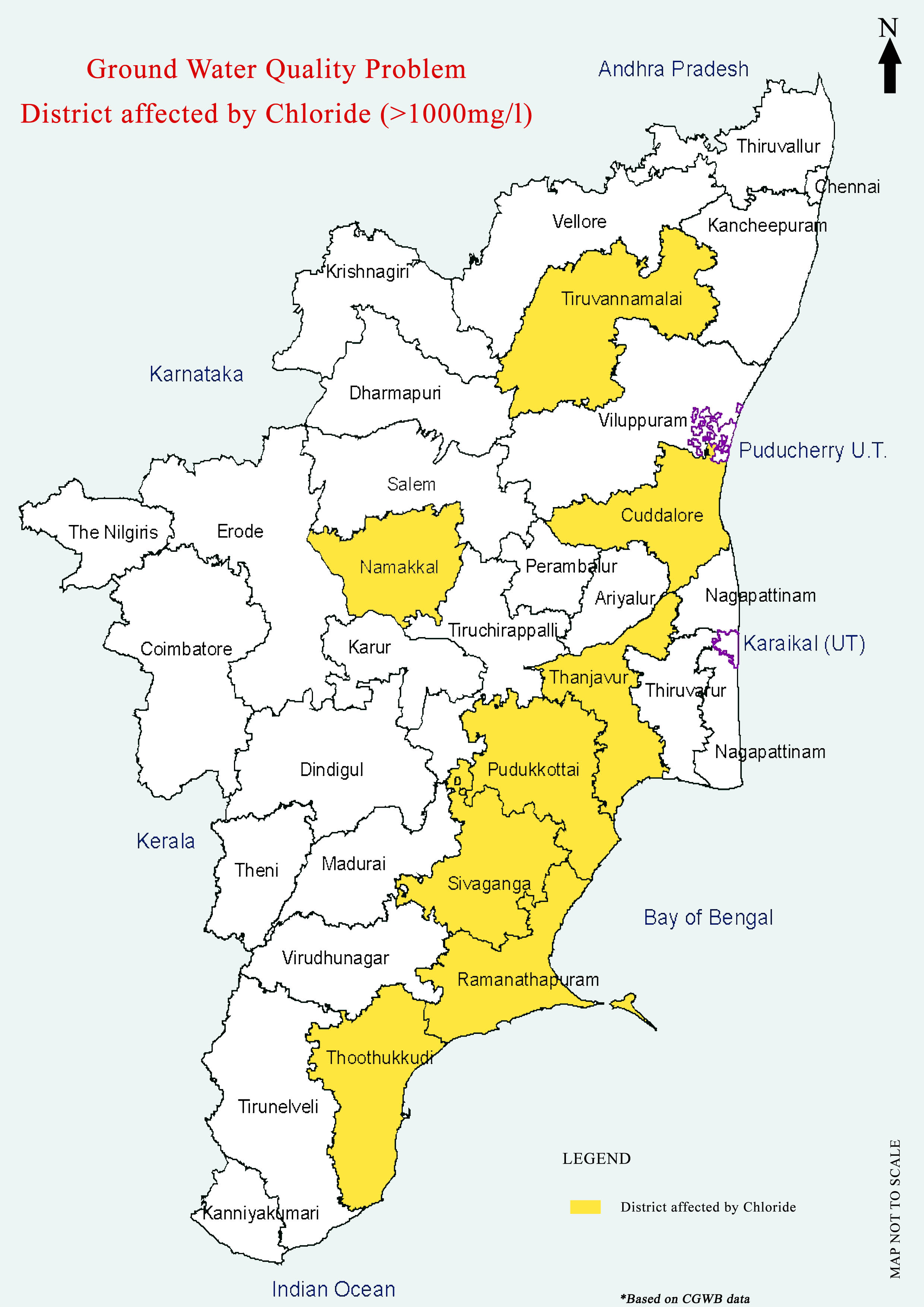 Maps On Groundwater QualityTamil Nadu A Collection By - Tamilnadu map